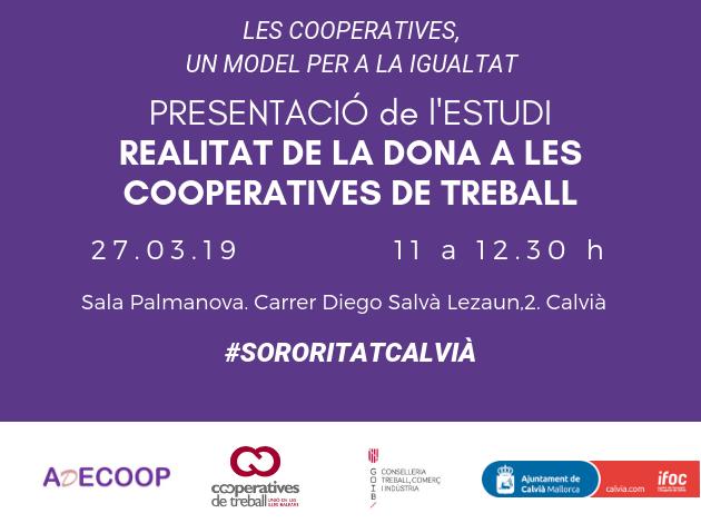 Les cooperatives un model per a la igualtat. Presentació d'un estudi sobre la dona cooperativista a Calvià