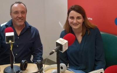 Nuestra Coworker Noelia Márquez ganadora de Connectup 2018 visita Radio Calvià