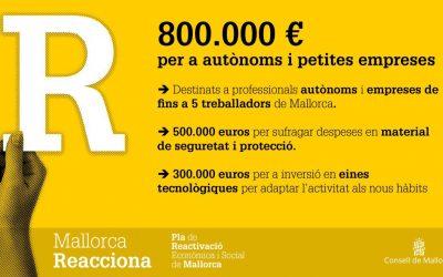 800.000 € en ayudas para autónomos y microempresas. Mallorca reacciona
