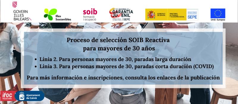 EMPIEZA EL PROCESO DE INSCRIPCIÓN AL SEGUNDO TURNO DEL PROGRAMA SOIB REACTIVA 2020