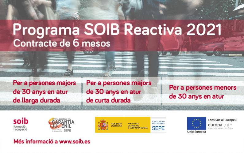 Empieza la inscripción del programa SOIB REACTIVA