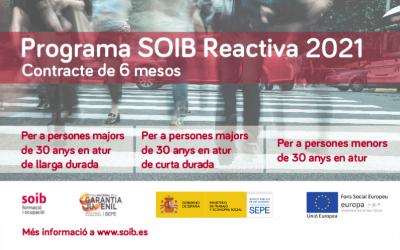 Comença l'inscripció al programa SOIB REACTIVA